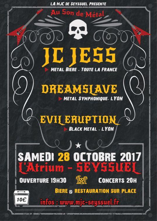 concert métal flyer
